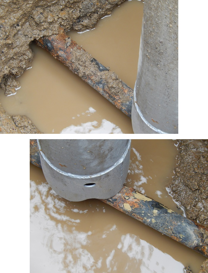 Close-ups of water main