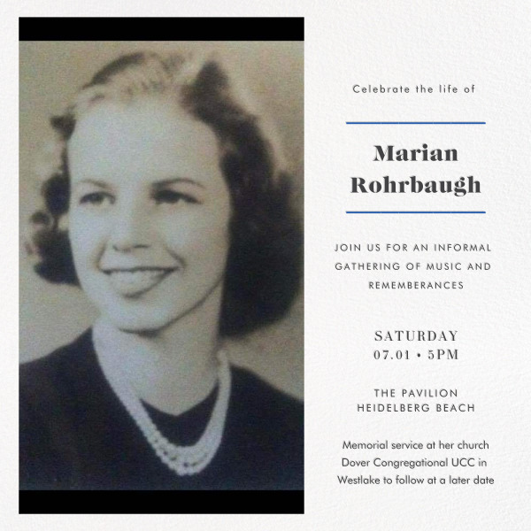 Memorial for Marian Rohrbaugh