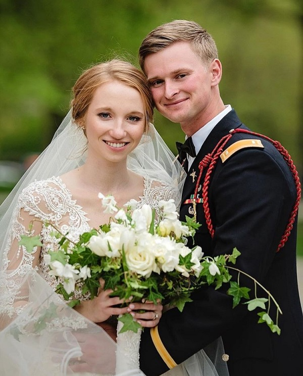 Newlyweds Laura Weber and Evan Burnham