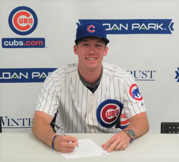 Andy Weber, signed by the Chicago Cubs!
