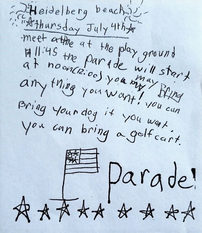 HB 4th of July Parade Invitation