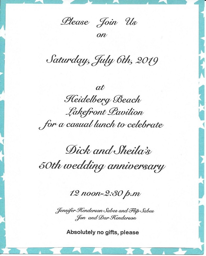 Henderson 50th Anniversary Invitation