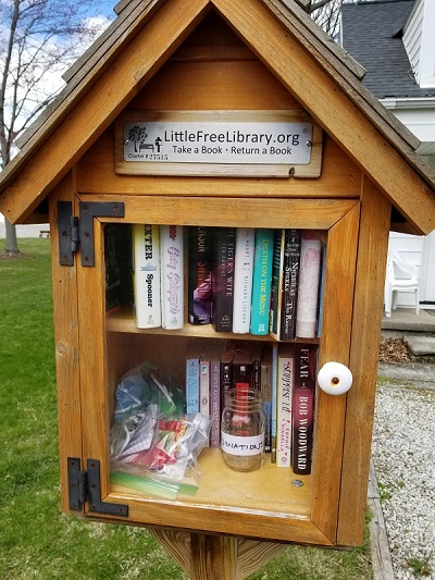 The Little Free Library, your source for cloth face masks